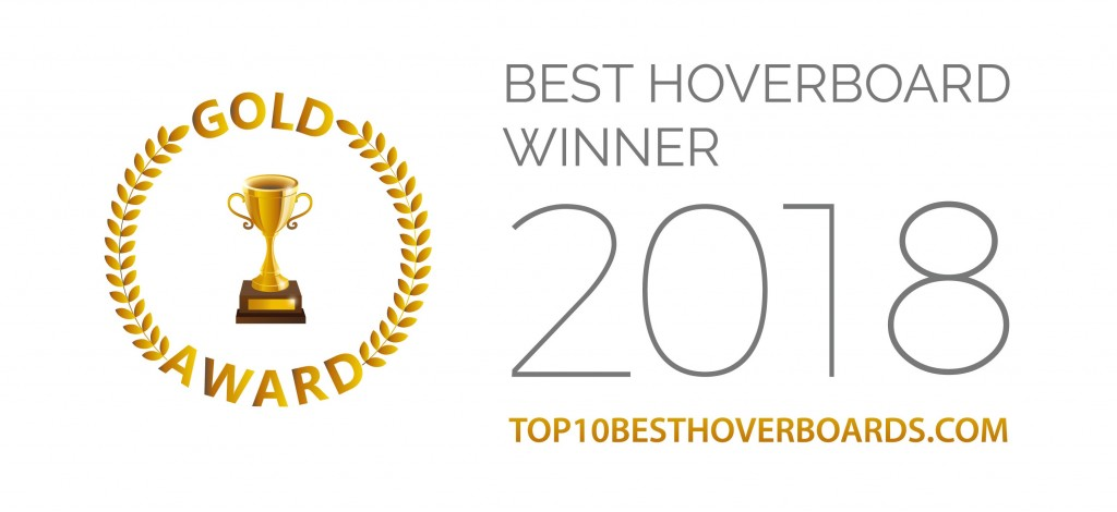 Gold_award of The Best Hoverboard by top10besthoverboards.com